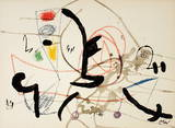 Maravillas 1063 Collectable Print by Joan Miró