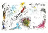 L'ame du Circue Collectable Print by Marc Chagall