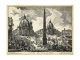 Veduta Della Piazza Del Popolo Print by  Piranesi