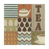 Tea Collage Kunstdruck von Erica J. Vess