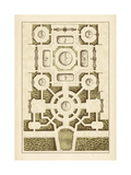 Gartenlabyrinth III Poster von Jacques-francois Blondel