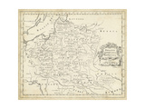 Map of Poland Plakater af T. Jeffreys