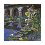 Fountain at San Miguel I Premium Giclee Print by Clif Hadfield