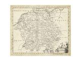 Kort over Tyskland Plakat af T. Jeffreys