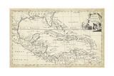Map of West Indies Prints by T. Jeffreys