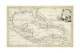 Mapa de las Antillas Lámina por T. Jeffreys
