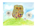 Owl and Flowers Prints by Ingrid Blixt