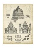 Vintage Architect's Plan II Kunstdrucke von  Vision Studio