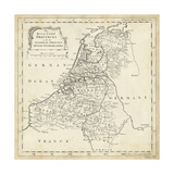 Map of Netherlands Prints by T. Jeffreys