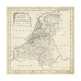 Mapa de los Países Bajos Lámina por T. Jeffreys