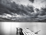 Lake with Dock Photographic Print by Nish Nalbandian
