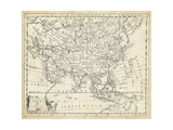 Map of Asia Prints by T. Jeffreys