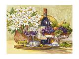 Wine and Daisies Reproduction giclée Premium par Jerianne Van Dijk