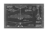 Aeronautic Blueprint VI Prints by  Vision Studio