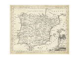 Map of Spain Prints by T. Jeffreys