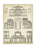 Vintage Architect's Plan I Giclee Print by  Vision Studio