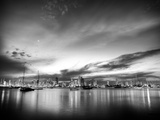 B&W Sunset Reflections Photographic Print by Nish Nalbandian