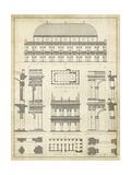 Vintage Architect's Plan IV Kunstdrucke von  Vision Studio