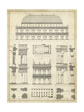 Vintage Architect's Plan IV Giclee Print by  Vision Studio