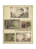 Antique Currency I Premium Giclee Print by  Vision Studio