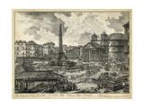 Veduta Della Piazza Della Rotunda Posters af Piranesi