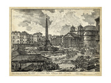 Veduta Della Piazza Della Rotunda Posters by  Piranesi