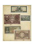 Antique Currency IV Print by  Vision Studio