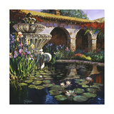 Fountain at San Miguel II Premium Giclee Print by Clif Hadfield