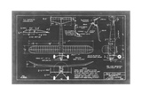 Aeronautic Blueprint VII Giclee Print by  Vision Studio