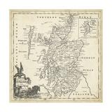 Mapa de Escocia Póster por T. Jeffreys