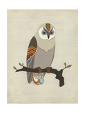 Chevron Owl I Print by Erica J. Vess
