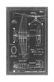Aeronautic Blueprint IV Giclee Print by  Vision Studio