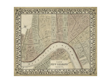 Plan of New Orleans Prints by  Mitchell