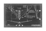 Aeronautic Blueprint V Prints by  Vision Studio