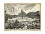 Veduta Della Basilica Di S. Pietro Poster by  Piranesi