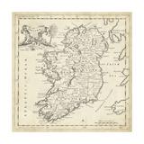 Map of Ireland Kunst af T. Jeffreys