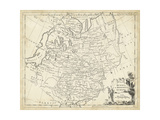 Map of Russia Prints by T. Jeffreys