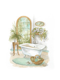 Watercolor Bath in Spa II Giclée-Premiumdruck von Jerianne Van Dijk