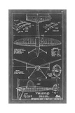 Aeronautic Blueprint III Giclee Print by  Vision Studio