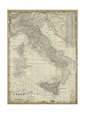 Antique Map of Italy Poster af Vision Studio