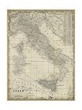 Mapa Antigua de Italia  Obra de arte por Vision Studio