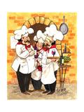 Wine Chefs Poster von Jerianne Van Dijk