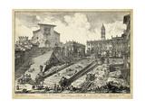 Veduta Del Romano Campidoglio Lámina por Piranesi