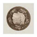 Sepia Transferware III Prints by  Vision Studio