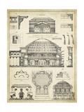 Vintage Architect's Plan III Giclee Print by  Vision Studio
