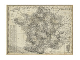 Antique Map of France Reprodukcje autor Vision Studio
