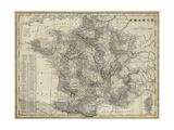 Antike Karte von Frankreich Kunstdrucke von  Vision Studio