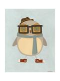 Hipster Owl II Posters van Erica J. Vess