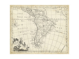 Map of South America Plakat autor T. Jeffreys