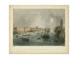 The Port of London Print by William Henry Bartlett